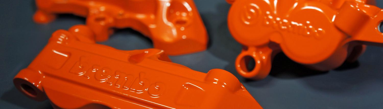 Bremssattel in KTM Orange pulverbeschichten