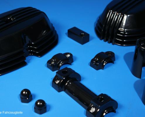 Ventildeckel in Schwarz glänzend pulverbeschichten