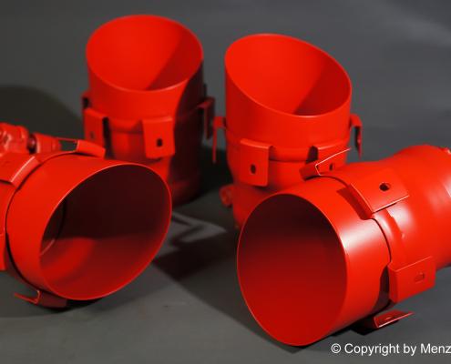 Auspuffblenden in SLR-Rot beschichten