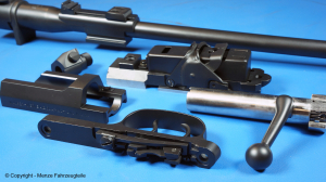 Mauser rifle parts in graphite black