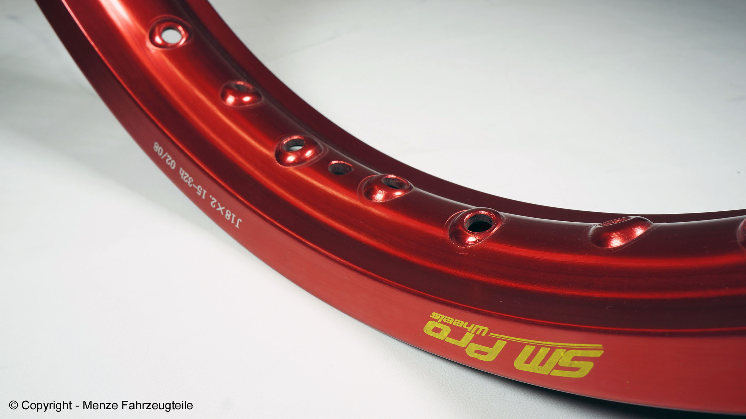 SM Pro Rims in red anodized