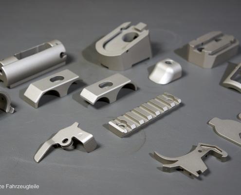 Kleinteile einer Flinte in Titanium beschichten