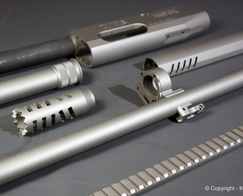 Selbstladeflinte in Titanium beschichten