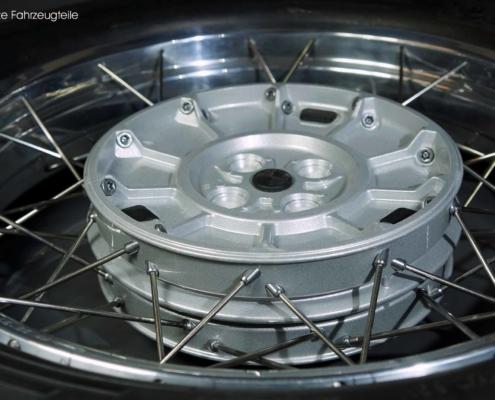 Radnabe in Silber pulverbeschichten