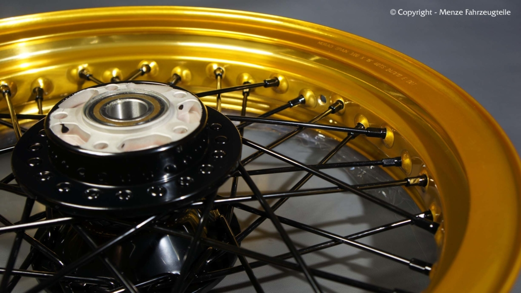 Felgen mit Gold Lasur Beschichtung