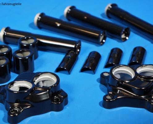 Stößelstangen-Gehäuse-Set in schwarz glänzend pulverbeschichten