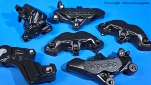 Motorrad Bremssattel in schwarz matt pulverbeschichten