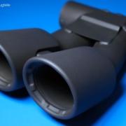 Auspuffblenden mit Lackierung in schwarz