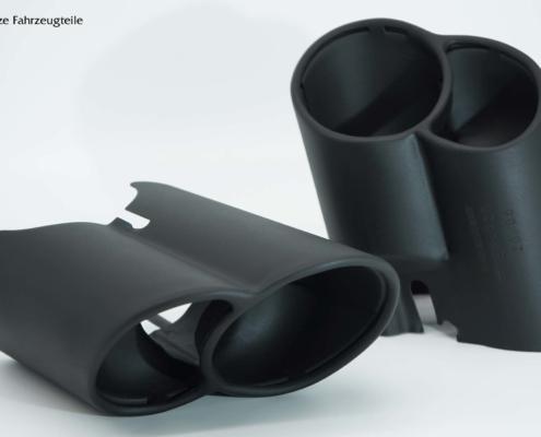Endrohrblenden in schwarz matt lackieren