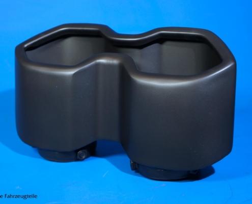 Porsche Auspuffblende in schwarz matt lackieren