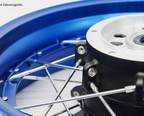 Speichenrad der Yamaha Tenere