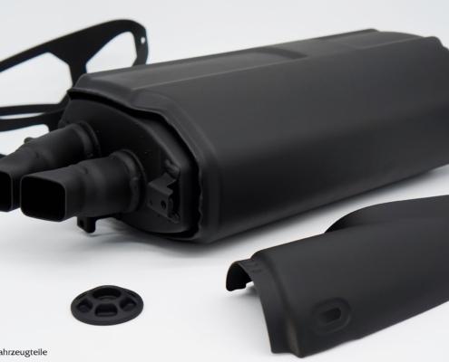 BMW R1250GS Auspuff in schwarz beschichten